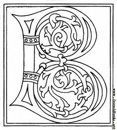 """Celtic-styled letter """"B"""""""