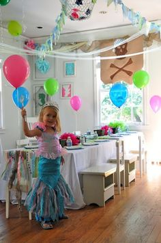Mermaids and Pirates party