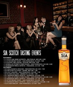 "Hello Friends & #Whisky Lovers! Happy #WhiskyWednesday! Mark your calendars and join us at one (or two, or three!) of our upcoming SIA #Scotch tastings! We know sometimes it takes a while to find that perfect #gift, but we've got you covered! ""Too much of anything is bad, but too much of good whisky is barely enough."""