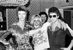 David Bowie, Iggy Pop and Lou Reed, London
