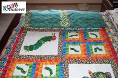 Congratulations to Marie McKay, the first winner of the Your Andover contest! She made this amazing quilt and matching pillow case set with The Very Hungry Caterpillar collection from The World of Eric Carle. We'll be choosing a new winner every Wednesday, so be sure to send pictures of your projects to yourandover@andoverfabrics.com