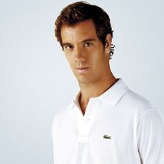 Lacoste Tennis, classic style modeled by Richard Gasquet. #TennisCouture #TennisFashion