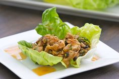 Chicken Lettuce Wraps...+ there's no reason, sans lettuce, this couldn't be served w/rice...=)