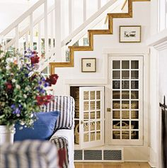Take Advantage of Space Under the Stairs-14 Basement Stair Ideas