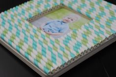 craft frame with straws
