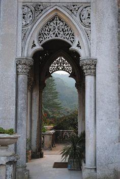 Romantic Monserrate Palace, Sintra, Portugal...