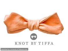 "Add some punch to a formal outfit with the ""Love on Top"" bow tie designed by Tiffany Rogers, a 2008 UD alum who owns knot by TIFFA."