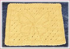 Lacey Butterfly Free Knit Dishcloth Pattern