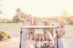 Eldorado Country Club - Bride and Bridesmaids  www.eldoradocc.com bridesmaids, catering, bridesmaid wwweldoradocccom, weddings, golf carts, country club, bridal parties
