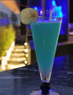 Blue Sky signature cocktail at the Blue Sky rooftop bar - Bangkok