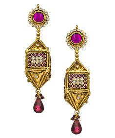 http://www.maxandchloe.com/Taara-Purple-Crystal-Dreidel-Earrings