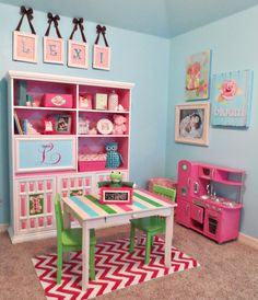 play area in nursery. I need to have another girl.   I love this nursery