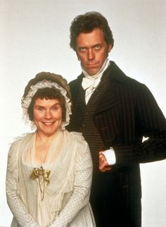 Imelda Staunton & Hugh Laurie - Mrs. and Mr. Palmer, Sense and Sensibility (1995) They look INSANE!