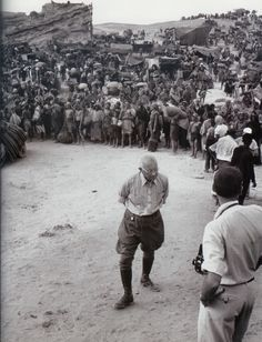 """Cecil b. demille on set of """"the ten commandments"""""""