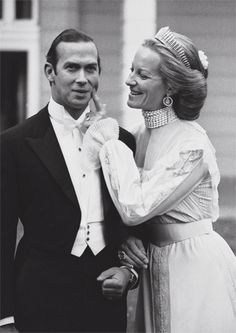 1978: Prince and Princess Michael of Kent on their wedding day. He is the grandson of King George V and Queen Mary, and Queen Elizabeth's cousin. His father was Prince George, Duke of Kent.