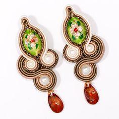 Oriental Silk and Silver - Soutache Earings