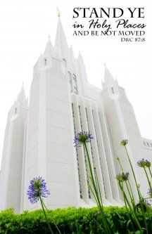"2013 ""Stand Ye in Holy Places"" YM YW Poster - Temple"