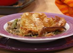 Chicken and Mushroom Casserole with Homemade Pastry Top