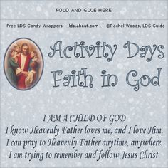 Faith in God Candy Wrapper for Boys