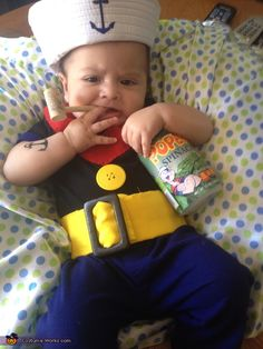 Popeye the Sailor Man DIY Baby Costume