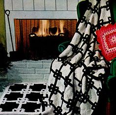 Class things up in your house with this amazing crochet blanket pattern. The Black Tie Crochet Afghan and Rug will be the most coveted pieces in your home!