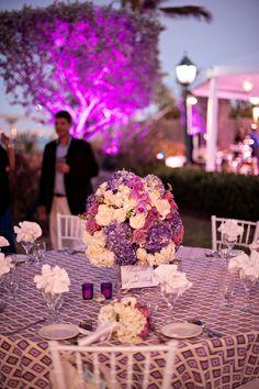 Modern Elegant Purple and White Wedding