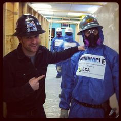 George preps for an asbestos removal operation with Pinnacle & Local 78