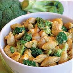 Cheesy Shells With Chicken & Broccoli