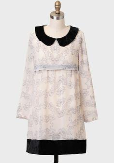 Salon Velvet Collar Dress By Kling