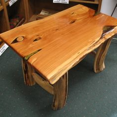 Log Cabin Builder - Juniper Wood Log Desk