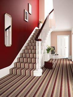 Hall Way Carpet Ideas On Pinterest Striped Stairs