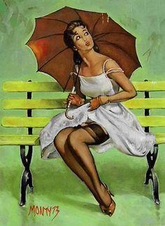 Ketty… It is raining water not men… Dapres gilvelgren…
