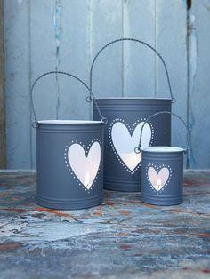 heart, decks, buckets, hurrican lantern, candles