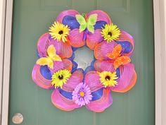 Custom Spring Mesh Wreath!