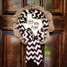 Perfect for Graduation Presents! {Decorative Texas A&M Gig 'Em Aggies' Maroon Chevron by TheCozyCasa}