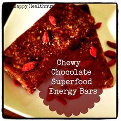Chewy Chocolate Superfood Energy Bars