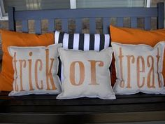 halloween pillow, holiday, porch swings, halloween crafts, drop cloth