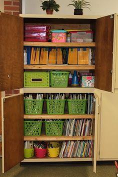 organized! - Homeschool cabinet ideas