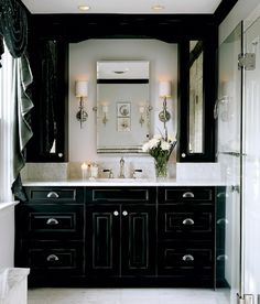A black bathroom with impact