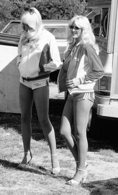 Linda Vaughn on the right