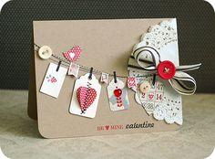 Valentine by Lea L. doili, clotheslines, tag, valentine cards, creating keepsakes, diy gifts, diy birthday cards, cards diy, scrapbook