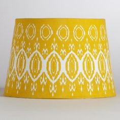 One of my favorite discoveries at WorldMarket.com: Yellow Ikat Accent Lamp Shade