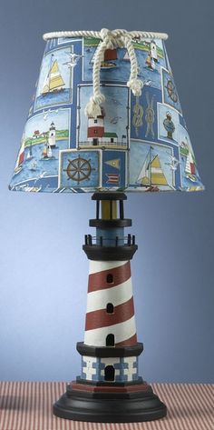 Lighthouse collage lamp!