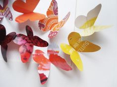 Recycled paper butterfly