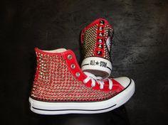 Custom Studded Spike Converse High Tops