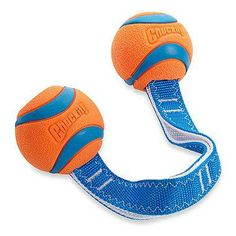 Designed around the popular Chuckit!® Ultra Ball, this highly-durable tug and toss dog toy boasts heavy-duty stitching on a 2-ply nylon handle with two Ultra Balls on each end. Versatile design is perfect for a game of fetch or tug of war.
