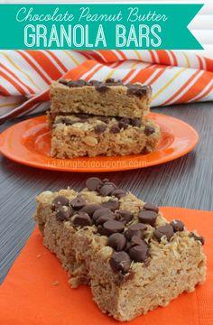 Chocolate Peanut Butter Granola Bars - Raining Hot Coupons