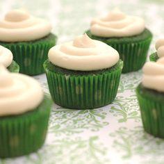green velvet cupcakes.. for st. patrick's day.