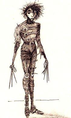 Sketch by Tim Burton