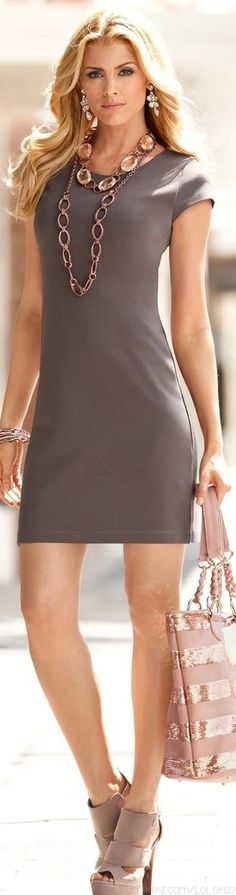 summer styles, summer dresses, bag, outfit, sophisticated style, the dress, shoe, work dresses, grey dresses